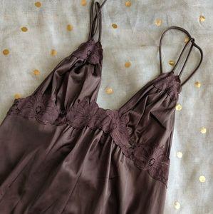 Vintage Mocha Lace Nightgown